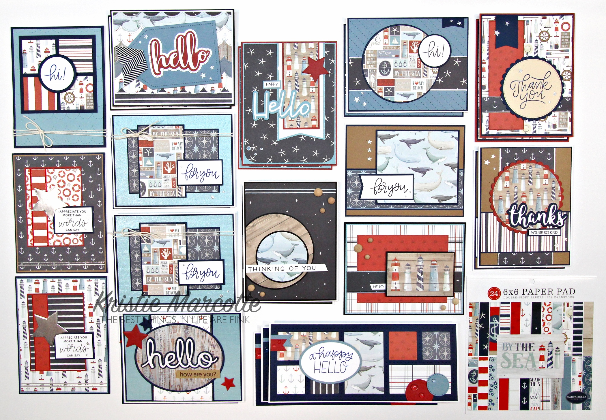 Carta Bella – By the Sea – 26 cards from one 6×6 paper pad