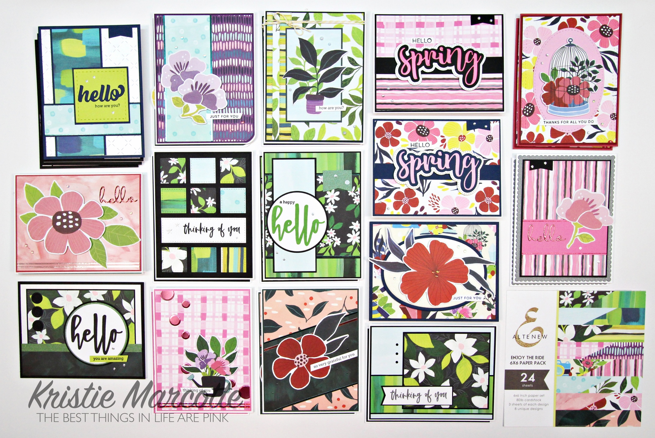 Altenew – Enjoy the Ride – 28 cards from one 6×6 paper pad