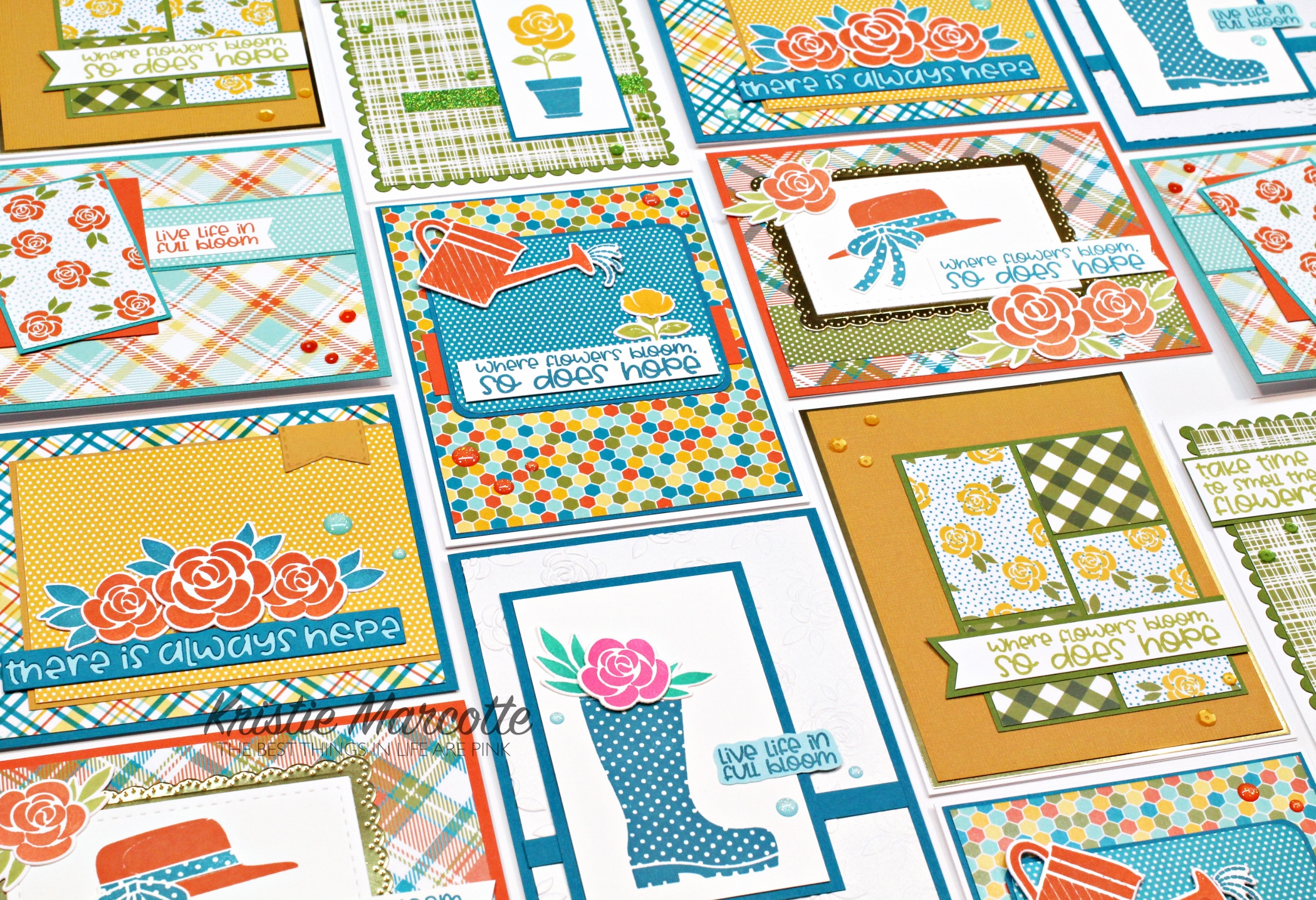 Pink & Main – April 2021 Crafty Courtyard kit – 14 cards 1 kit